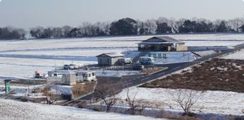 農場 雪景色